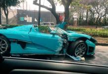 Choca en CDMX auto de súper lujo que fue de la familia real de Qatar