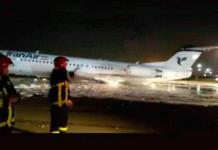Se incendia avión en aeropuerto de Teherán con 50 pasajeros a bordo