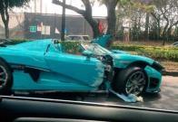 ¿Qué velocidad alcanza el auto de súper lujo que chocó en la CDMX?