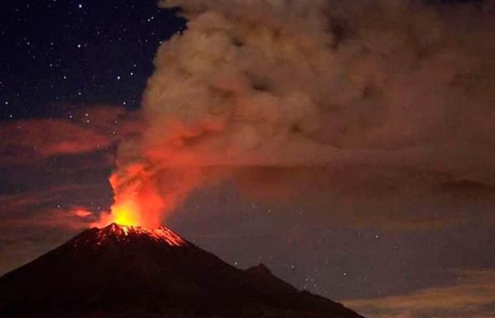 Popocatépetl lanza 117 exhalaciones