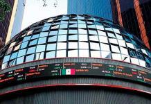Bolsa Mexicana logra cerrar con ganancia mínima; dólar baja a 19.81 pesos