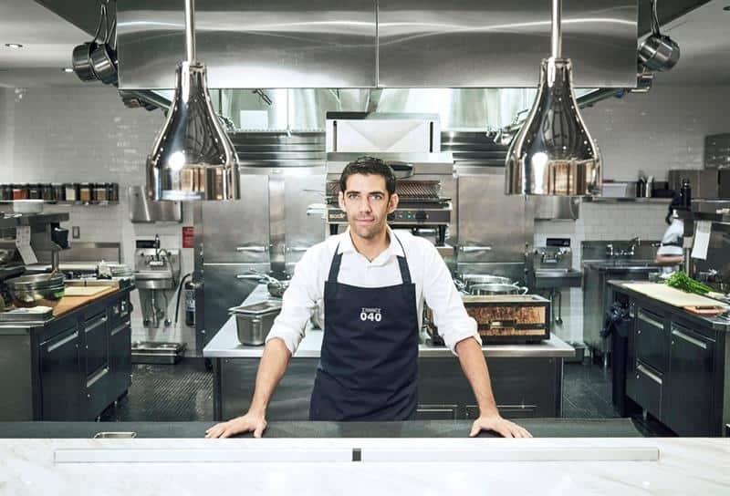 Sergio Barroso en su cocina.