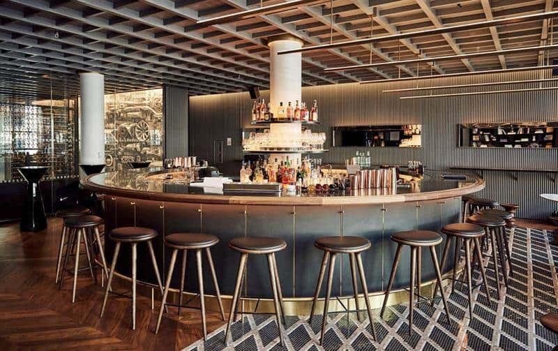 El bar del restaurante Intersect by Lexus , en NY.