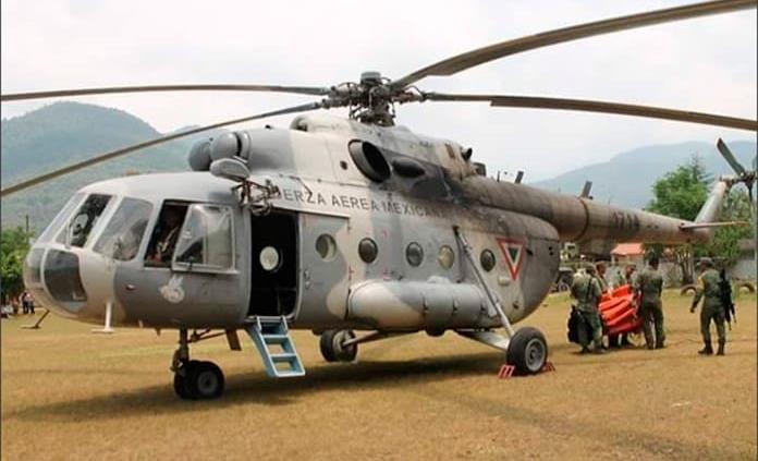 Se desploma helicóptero de Semar que combatía incendio en límites con SLP; hay al menos seis muertos