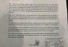 Renuncia integrante supernumeraria del Comité Ciudadano del Sistema Estatal Anticorrupción