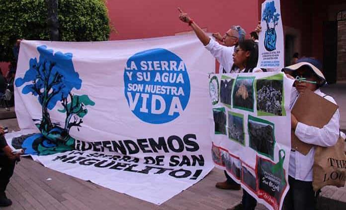 Activistas salen en defensa de sierra de San Miguelito
