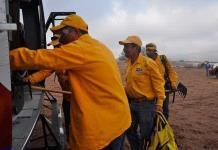 """Brigadistas contra incendios forestales reclaman sus """"pagas"""""""