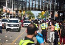 Estampida y cuatro heridos de bala en festejos por título de Raptors