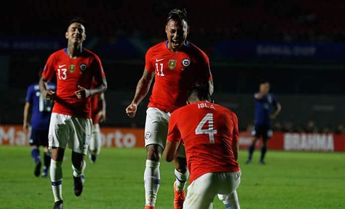 Chile derrota 4-0 a Japón en Copa América