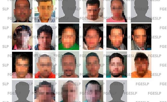 Fiscalía captura a 23 personas en una semana