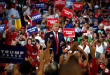 Trump se compara con George Washington durante anuncio de campaña