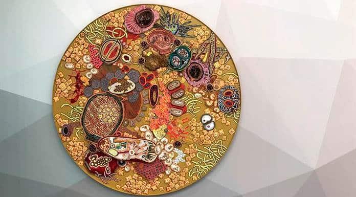Bacterias mortales hechas arte en un museo de EEUU'>