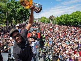 Raptors celebra primer campeonato de la NBA