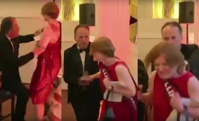 VIDEO: Legislador agrede a activista de Greenpeace en cena de gala en Londres; ya fue suspendido