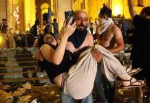 Violenta manifestación en Georgia