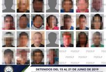 Fiscalía detiene a 25 personas en tercera semana de junio