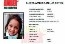 #SLP | Caso Zoé Zuleica, en manos de Fiscalía General: Alerta Amber