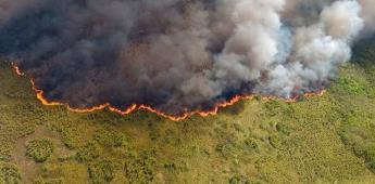 Cierran zona arqueológica por incendio en la Reserva Sian Kaan