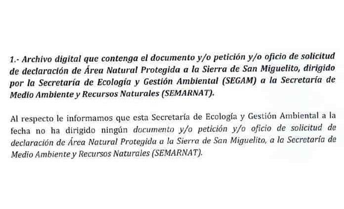 Incumple Gobierno rescate de la Sierra de San Miguelito