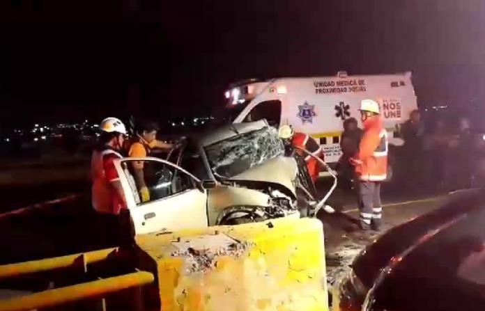 Aparatoso accidente en el distribuidor Juárez; un muerto