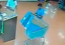 Denuncian robo de  cartera en el Tangamanga I; los presuntos responsables compraron TVs en Walmart