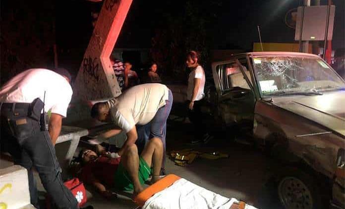 Un lesionados y fuertes daños, en choque de la rúa a Zacatecas