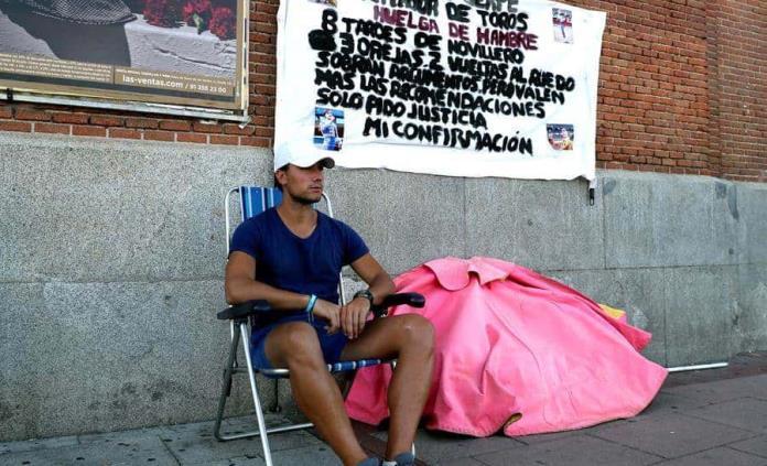 El torero Luis Gerpe inicia una huelga de hambre en Las Ventas