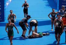 Calor en Tokio obliga abreviar prueba de triatlón femenino