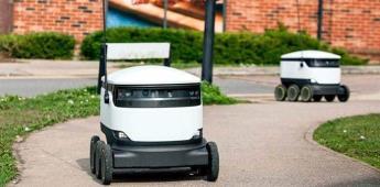 Pequeños robots con ruedas repartirán comida en 100 universidades de EEUU