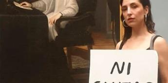 Autora feminista protesta en Museo del Prado
