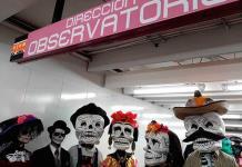 Las Catrinas viajan en Metro