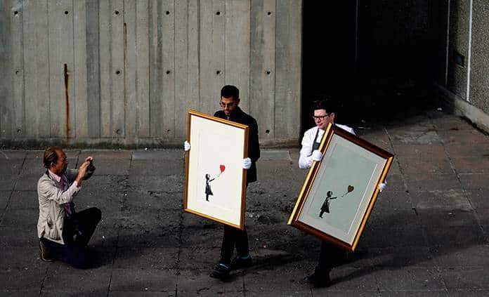A subasta, obras de Warhol, Freud y Banksy en Christies
