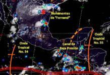 Hoy, fuertes lluvias en Tamaulipas, Nuevo León, Coahuila y SLP por remanentes de Fernand: Conagua