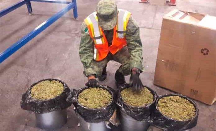 Asegura Sedena más de 15 kilogramos de marihuana en el Aeropuerto Ponciano Arriaga