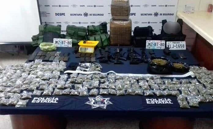 Tras enfrentamiento, aseguran drogas, armas y equipo táctico en Villa de Reyes