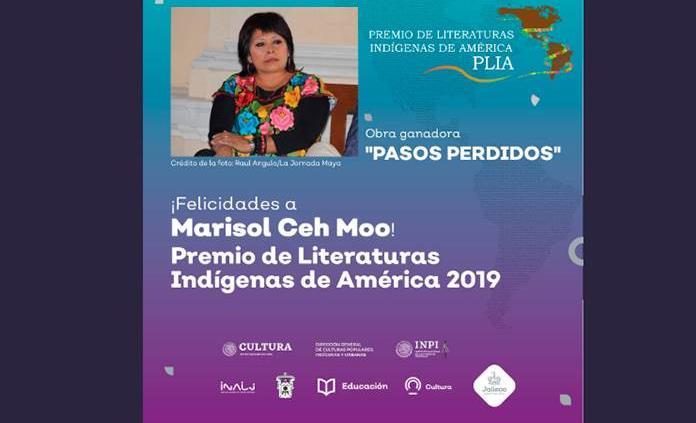 La mexicana Marisol Ceh Moo gana Premio de Literaturas Indígenas de América 2019