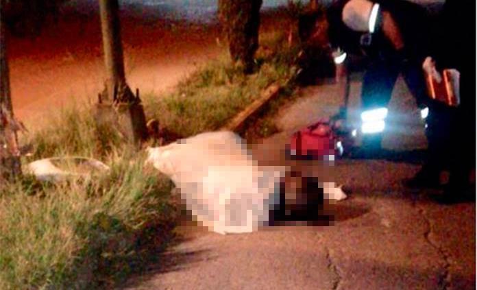 Fallece motociclista tras chocar contra un poste en Santos Degollado