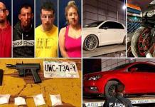 Cae banda de robacarros; traían droga y una subametralladora