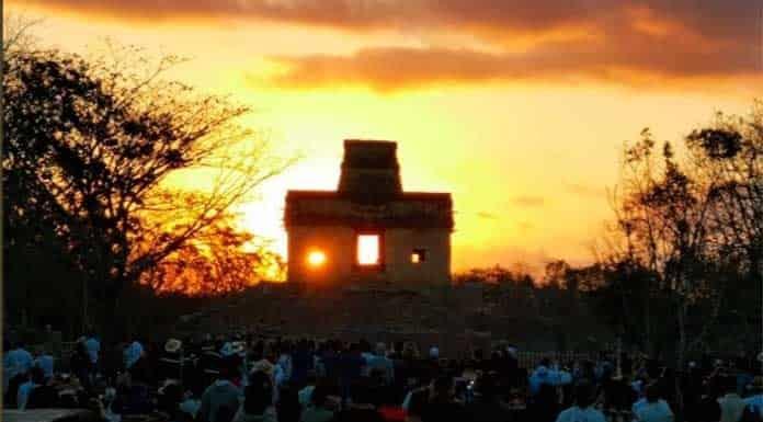 Así se vio el equinoccio de otoño en Dzibichaltún, Yucatán'>