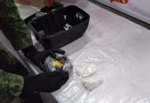 Aseguran metanfetaminas dentro de una bocina en el Aeropuerto P. Arriaga