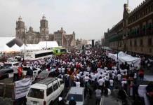 Recicladores protestan contra privatización de recolección de basura en CDMX