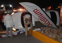 Automovilista fallece en volcadura sobre la carretera a Matehuala
