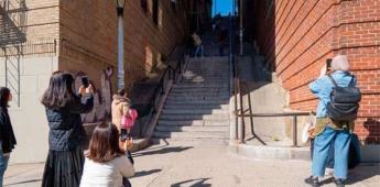 """Escaleras de """"Joker"""", la nueva atracción en Nueva York"""