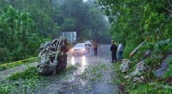 Lluvias desbordan arroyos, incomunican poblados y causan derrumbes en la Huasteca