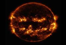 NASA comparte fotografía del Sol donde parece calabaza de Halloween