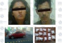 Detienen a presuntos narcomenudistas en auto robado en Villa de Pozos