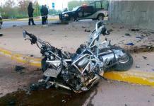 Fallece motociclista tras chocar contra puente atrás del Tangamanga I