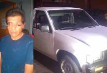 Individuo es arrestado con camioneta robada