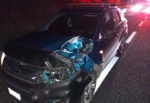 Mujer resulta herida tras chocar su vehículo contra una vaca en Valles