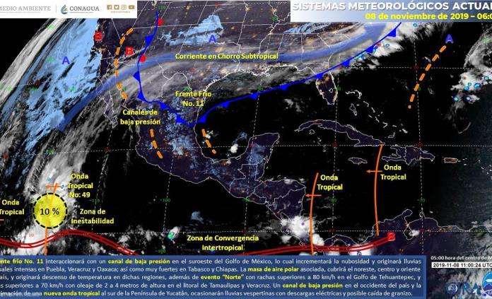 Pronostica PC un fin de semana frío y lluvioso en SLP